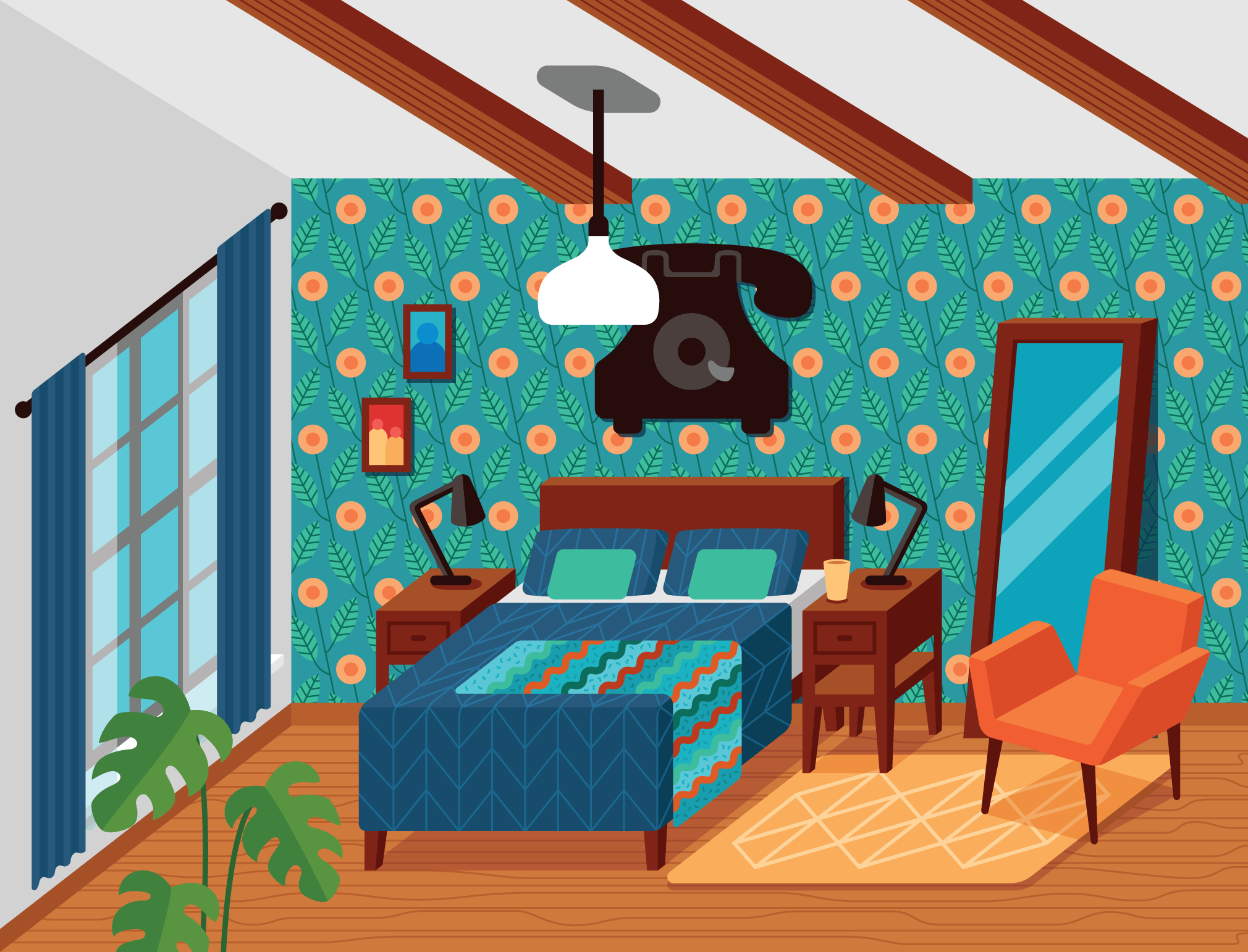 Drawings From My Dream Rooms Series
